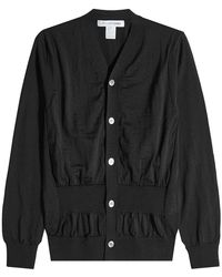 Comme des Garçons - Wool Cardigan With Gathered Waist - Lyst