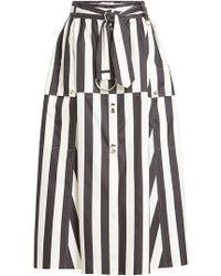 Nina Ricci | Striped Silk Midi Skirt | Lyst