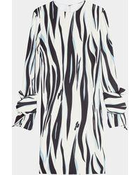 Victoria, Victoria Beckham Minikleid mit Knotendetails - Mehrfarbig