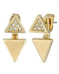Rebecca Minkoff - Double Triangle Earrings - Lyst