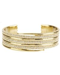 Luv Aj - Pave Coil Bangle In Gold - Lyst