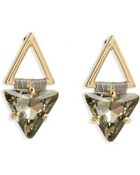 Rebecca Minkoff | Thread Wrapped Geometric Stud Earrings | Lyst