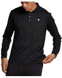 DIESEL T-weet Long Sleeve Black Polo Shirt