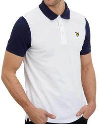 Lyle & Scott Mens Ringer Sleeve Polo Shirt - White