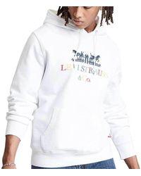 Levi's Levi's 90s Logo Po Hoodie - White