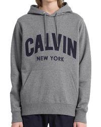 Calvin Klein Jeans Mens Hikos 2 Regular Pullover Hoodie - Grey