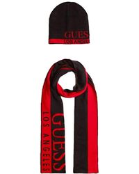 Guess Two-tone Logo Scarf Gift Box - Red