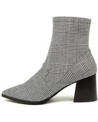 Nude Novah Nu Plaid Boots - Grey