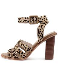 Nude Lela Nu Leopard Sandals - Brown