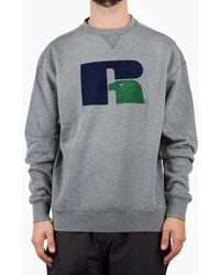 Russell Athletic - Russell Benjamin Large Flock Crew - Lyst