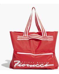 adidas Originals Adidas Originals Fiorucci Stripe Tote Bag - Red