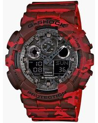 G-Shock G-shock Ga-100cm-4aer - Red