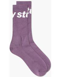 Stussy Jacquard Logo Socks - Purple