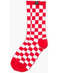 Stussy Checker Socks - Red
