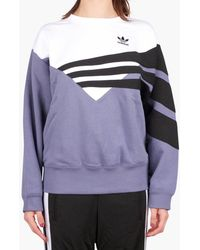24de07e20150 adidas Originals X The Farm Company Cirandeira Crop Sweater in Blue ...