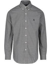 Polo Ralph Lauren 'oxford' Sports Shirt - Gray