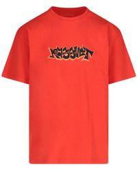 Rassvet (PACCBET) T-Shirt Stampa Logo - Rosso