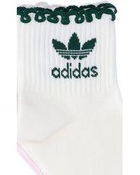 adidas Logo Socks - White