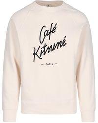 Maison Kitsuné Felpa logo - Bianco