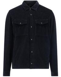 Z Zegna Corduroy Shirt - Black