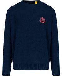 2 Moncler 1952 Classic Logo Sweater - Blue