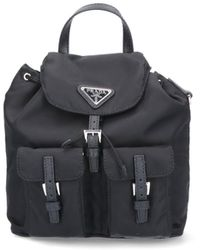 Prada Crossbody Mini Backpack-style Bag - Black