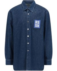 Raf Simons Patch Logo Shirt - Blue