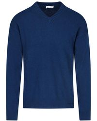 Jil Sander V-neck Pullover - Blue