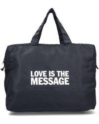 "Honey Fucking Dijon ""love Is The Message"" Tote Bag - Black"