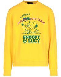 "Marc Jacobs Felpa ""Snoopy & Lucy"" - Giallo"