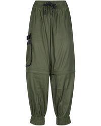 Fendi Pantaloni Joggers Cargo - Verde