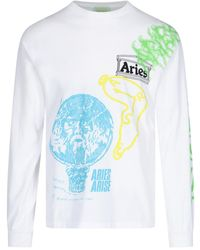 Aries Maglia stampe all-over - Bianco