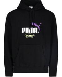 PUMA Felpa logo - Nero