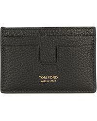 Tom Ford Portacarte con stampa - Nero