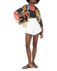 Dolce & Gabbana Blusa con stampa patchwork - Multicolore