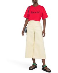 Stella McCartney High-waisted Wide-leg Culottes - Natural
