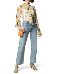 Dolce & Gabbana Blouse With Flowers - Yellow