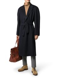 Kiton Cappotto midi con cintura - Nero