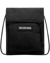 Balenciaga Borsa a Tracolla in Nylon con Logo - Nero