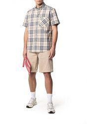 Burberry - Checked Short-sleeve Shirt - Lyst