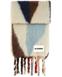 Jil Sander Sciarpa in lana - Multicolore