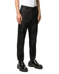 Prada Cuffed Logo Pants - Black