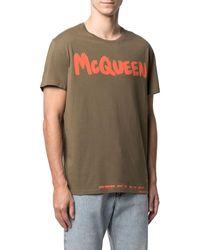 Alexander McQueen - Graffiti Logo-print T-shirt - Lyst
