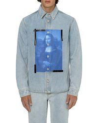 Off-White c/o Virgil Abloh Monalisa Denim Shirt - Blue