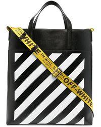 Off-White c/o Virgil Abloh Logo-tape Detail Tote Bag - Black