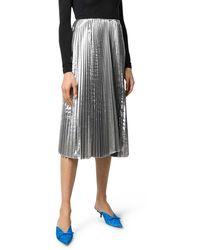 Balenciaga Metallic Pleated Skirt - Multicolor