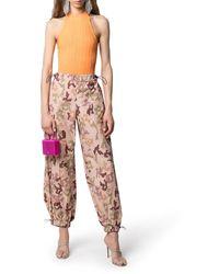 The Attico Camouflage-print Trousers - Multicolour