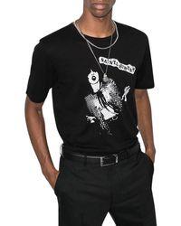 Saint Laurent T-shirt con stampa - Nero