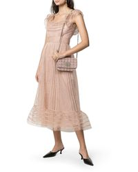 RED Valentino Polka Dot Tulle Dress - Multicolor