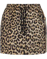 Dior Leopard Print Skirt - Multicolour